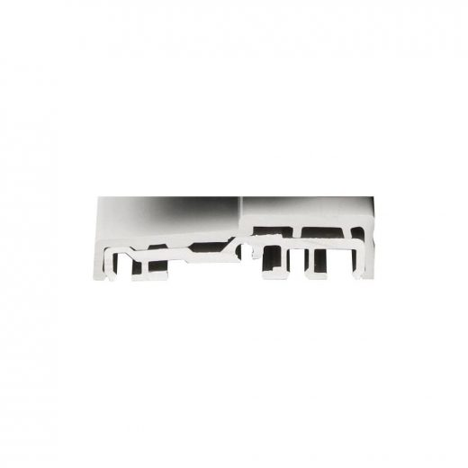 Seuil aluminium avec capot PVC gris 20 mm (Pour personne à mobilité réduite)